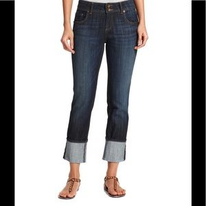 Kut from the Kloth Cameron Cuff Straight-Leg Jeans